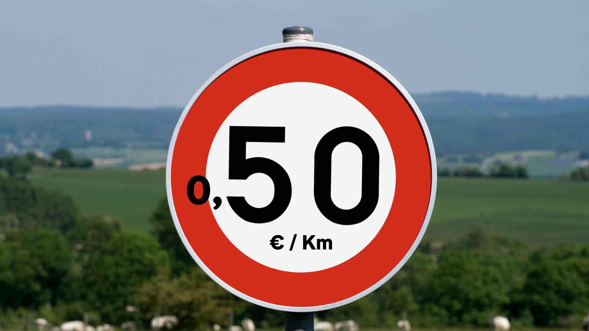 Cartello 050 euro km