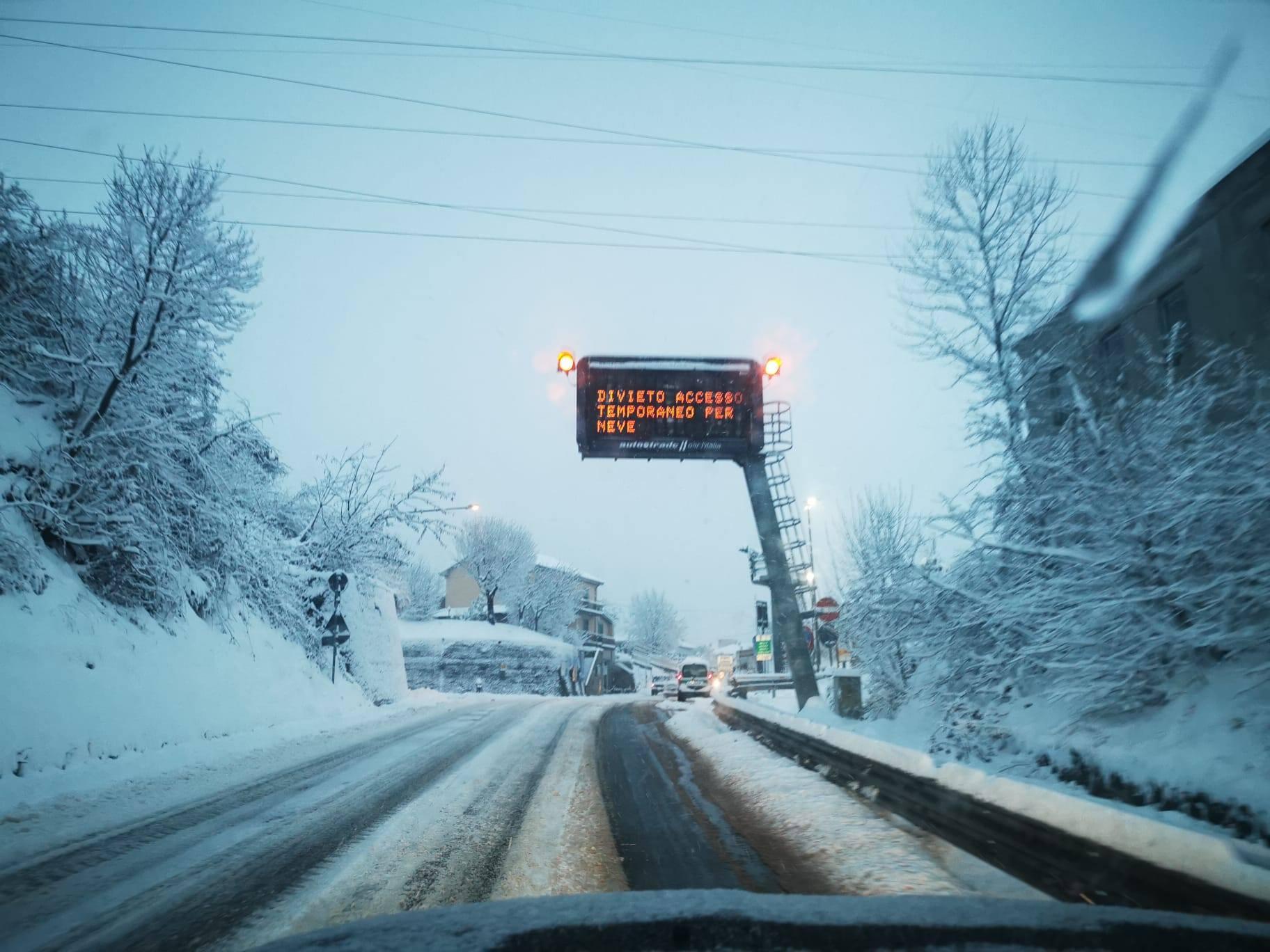 Divieto accesso temporaneo per neve