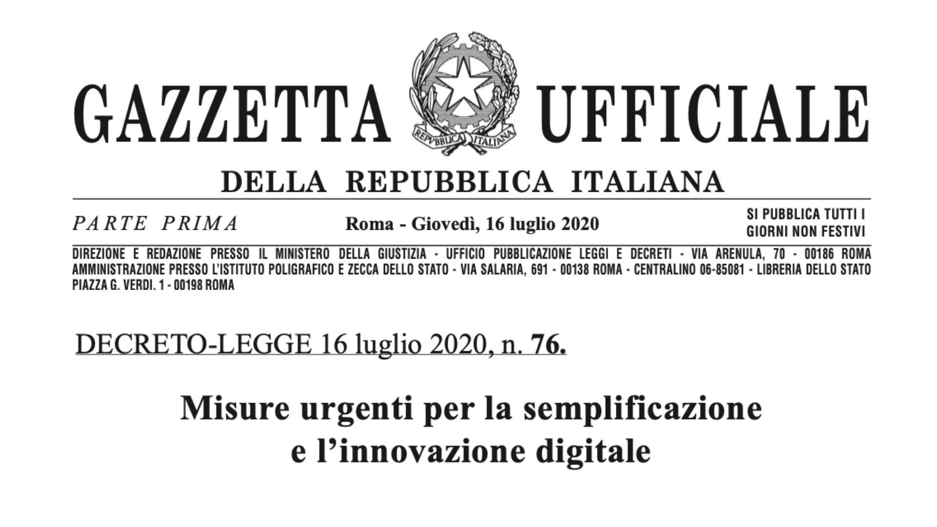 Misure urgenti per la semplificazione e innovazione digitale