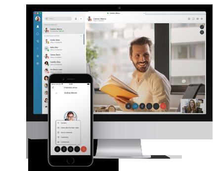 Video HD e chiamate vocali Soluzioni di Smartworking Lets Co