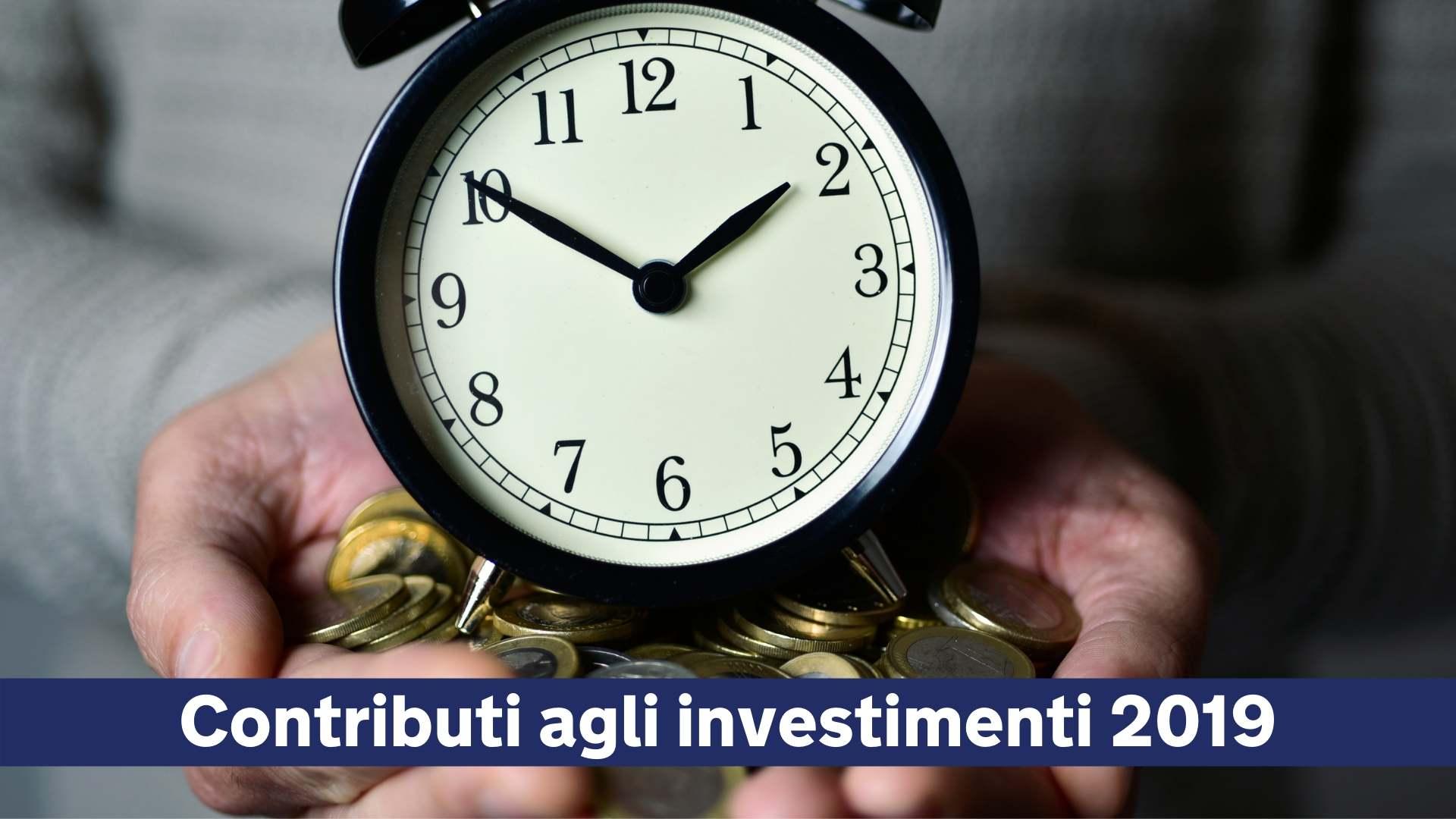 Contributi agli investimenti 2019