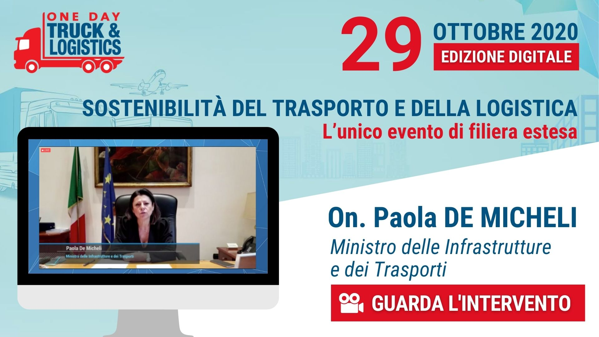 one day truck and logistics On v2. Paola DE MICHELI